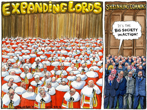 Steve Bell cartoon on Lords reform