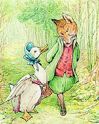 Jemima Puddleduck and Mr Fox