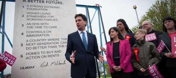 Ed Miliband stone pledges