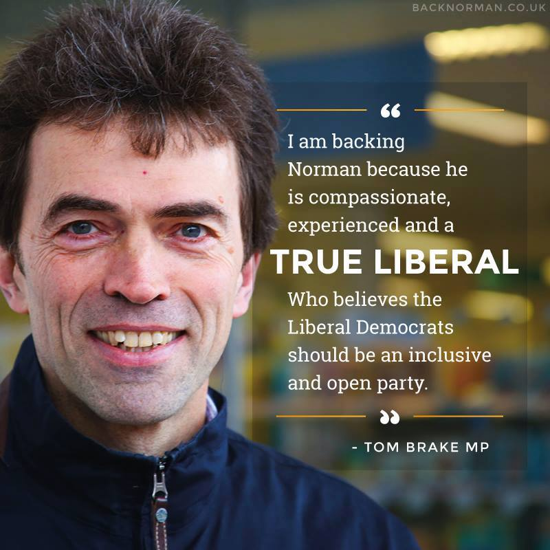 Tom Brake endorsing Norman Lamb