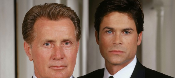 382936 02: Actors from (l-r) Martin Sheen stars as President Josiah Bartlet and Rob Lowe as Deputy Communications Director Sam Seaborn on NBC''s West Wing which airs Wednesdays on NBC (9-10 p.m. ET). (Photo by David Rose/NBC/Newsmakers)