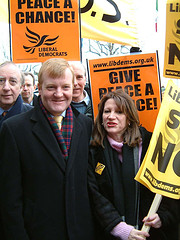 Charles Kennedy and Lynne Featherstone at the 15 Feb 2003 anti-war demo (credit: Lynne Featherstone)