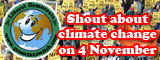 Shout about climate change on 4 November