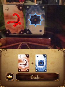 Screenshot from Alchemists app demonstrating it identifying cards