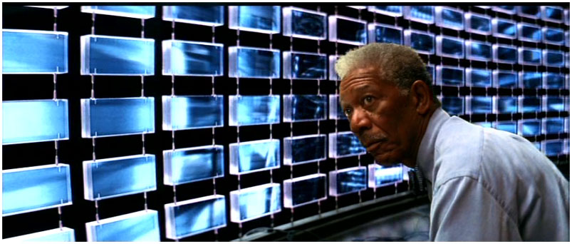 Morgan Freeman in The Dark Knight
