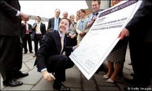 Nick Clegg signing the NUS anti-tuition