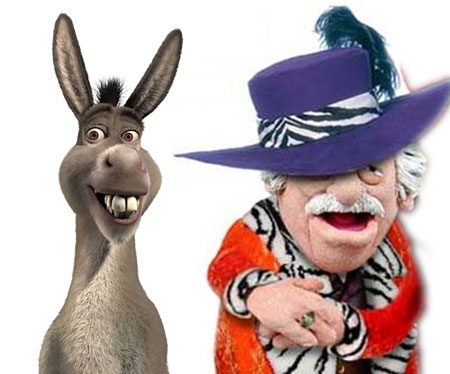 Donkey and Waldorf