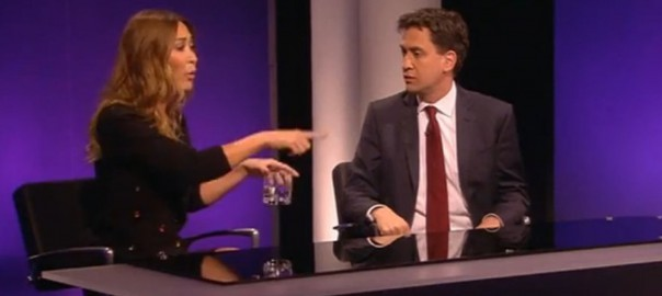 Myleene Klass and Ed Miliband