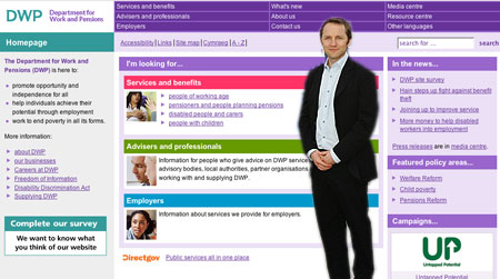 James Purnell and DWP website
