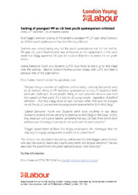 London Young Labour Press Release on Jo Swinson