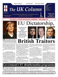 Cover to UK Column, December 2007