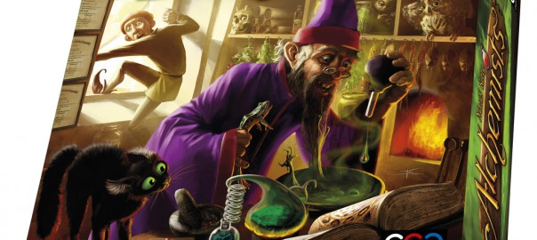 Box art of the Alchemists board game